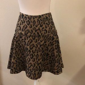 Free People leopard flare skirt